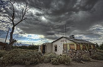 Alabama Hills, California - An abandoned cafe in Alabama Hills
