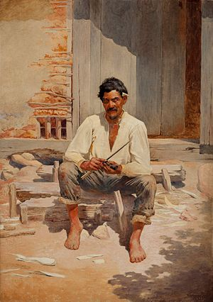 Caipira - Portrait of a Caipira (1893) by Almeida Júnior.
