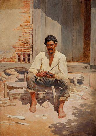 Caipira - Portrait of a Caipira (1893) by Almeida Júnior.