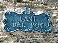 Camí del Pou street sign.JPG