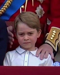 George de Cambridge lors du Trooping the Colour