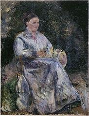 Julie Pissarro au jardin