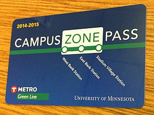 Go-To card - Campus Zone Pass card