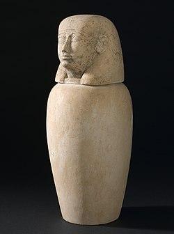 Canopic jar, Egypt Wellcome L0058462.jpg