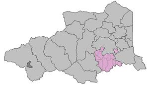 Canton of Céret - Location of the canton in Pyrénées-Orientales