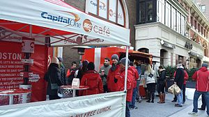 Capital One - Activities announcing the opening of the CapitalOne 360 Café in Boston.