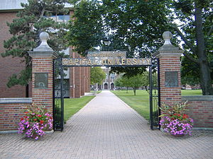 "Capital University - Main Street gate entrance to ""Capital University"", Columbus, Ohio suburb of Bexley"