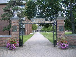 "Capital University - Main Street gate entrance to ""Capital University"", Columbus, Ohio suburb of Bexley"