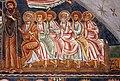 Cappella di san silvestro, affreschi del 1246, 02 cristo in trono tra maria, san giovanni, gli apostoli e angeli 5.jpg