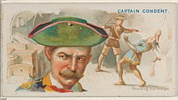 Captain Condent, Shooting the Indian, from the Pirates of the Spanish Main series (N19) for Allen & Ginter Cigarettes MET DP835009.jpg
