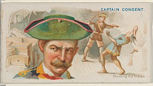 Christopher Condent - Image: Captain Condent, Shooting the Indian, from the Pirates of the Spanish Main series (N19) for Allen & Ginter Cigarettes MET DP835009