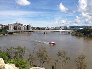 Captain Cook Bridge, Brisbane - The Captain Cook Bridge, as viewed from Kangaroo Point Cliffs.