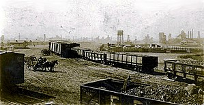 Cardin, Oklahoma - View of Cardin mines, plant, and railyard in 1922