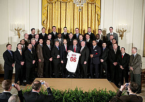 2006 St. Louis Cardinals season - The Cardinals are honored as World Series champions by President Bush at the White House on January 15, 2007.