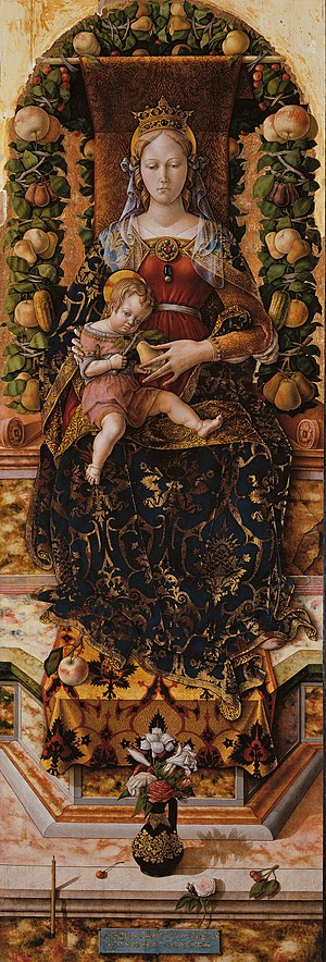 Pinacoteca di Brera - Madonna della Candeletta, Carlo Crivelli. c. 1490