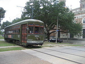 Perley A. Thomas Car Works - Perley Thomas 900 series streetcar in service in New Orleans in the 21st century
