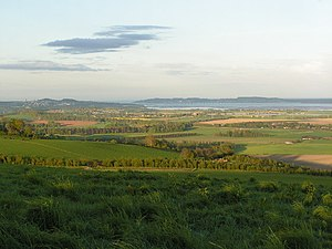 Carse - Carse of Gowrie looking towards Dundee.