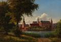 Carsten Henrichsen - Frederiksborg Slot set fra bredden af slotssøen - 1859.png