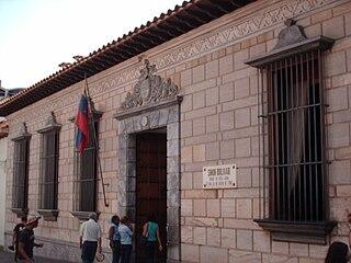 Birthplace of Simón Bolívar national historical monument of Venezuela in Caracas