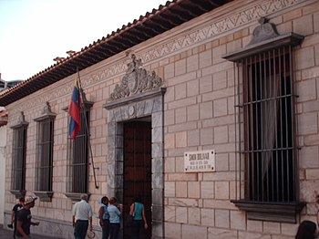 Casa natal del Libertador en Caracas