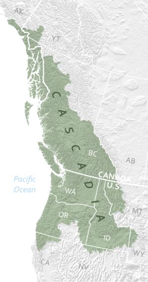 Cascadia (bioregion) - Cascadia Bio Region boundaries