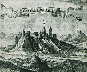 Arta, Greece - Engraving of the city, 1686