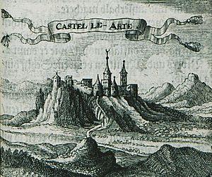 Arta, Greece - Engraving of the city, 1686