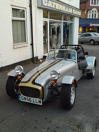 Caterham Cars - Caterham 7 Roadsport near Caterham South showroom