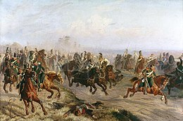 Description de l'image Cavalry Battle in Polotsk 6 aug 1812.jpg.