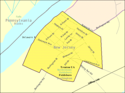 Census Bureau map of Fieldsboro, New Jersey