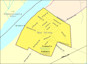 Fieldsboro, New Jersey - Image: Census Bureau map of Fieldsboro, New Jersey