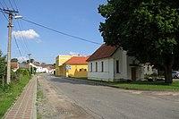 Center of Chotěbudice, Třebíč District.JPG