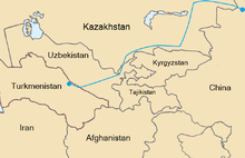 The route of the gas pipeline