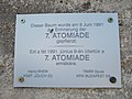 Central Research Institute for Physics, sports complex. Plate to the 7th Atomiade (1991). - Budapest.JPG