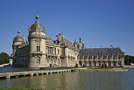 Chantilly castle, Oise department, France, as seen from north-west