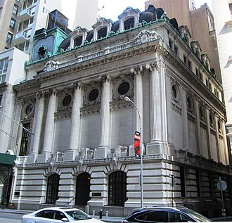 The Chamber of Commerce Building at 65 Liberty Street, one of many historical buildings in the district Chamber of Commerce Building (New York City).jpg