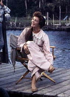 Chana Eden - Eden on the set of Wind Across the Everglades (1958)