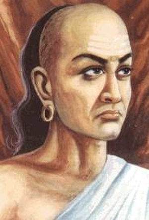 Chandragupta Maurya - Chandragupta's guru was Chanakya, with whom he studied as a child and with whose counsel he built the Empire. (An image is a 1915 artistic portrait of Chanakya.)