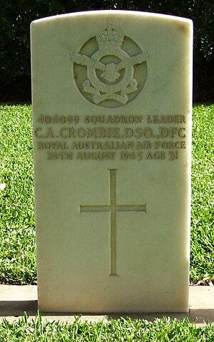 Charles Crombie - Charles Crombie's grave in Sandgate War Cemetery.