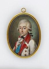 Książę Adam Kazimierz Czartoryski (1734-1823), generał Ziem Podolskich, w mundurze feldmarszałka austriackiego korpusu szlachty galicyjskiej