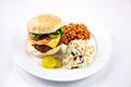 Cheeseburger with Baked Beans and Coleslaw (5076896050).jpg