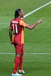 e21825ec4 Drogba playing in the UEFA Champions League last 16 for Galatasaray in  March 2014.