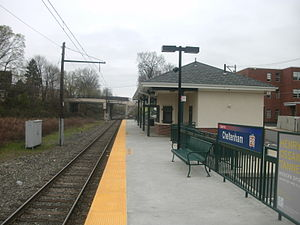 Cheltenham station (SEPTA) - Cheltenham Station in March 2012, after construction of the new high level platform.