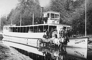 Chester (sternwheeler) - Image: Chester (sternwheeler) in Cowlitz river 1897