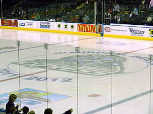 Chicago Express - Express center ice logo during their 1st and only ECHL season in 2011-12