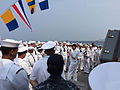 Chief of Naval Operations Adm. John Richardson holds an all-hands call with Sailors aboard the Arleigh Burke-class guided missile destroyer USS McCampbell (DDG 85), during India's International Fleet Review 2016.JPG
