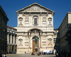 San Fedele (Milan) - Façade of the church.