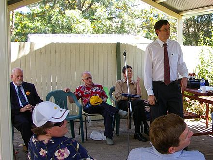 Candidates address electors two weeks before polling day in the Division of Chifley. Chifley candiidates meeting nov 2007.jpg