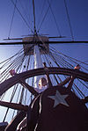 Child at the helm of the USS Constitution (8658245522).jpg