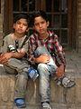 Children in Ribat-i-Abbasi of Nishapur (Hossein - Ali - Fatemeh - Hengameh and another girl - probably Afghani) 42.jpg